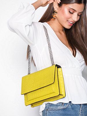 NLY Accessories gul mönstrad axelväska Chain Shoulder Bag Gul