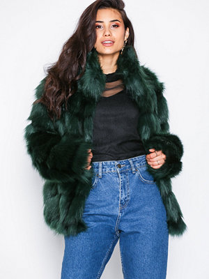 NLY Trend Fluffy Fur Jacket Grön