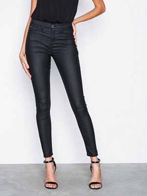 River Island Molly Coated RL Jegging Black