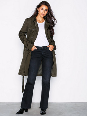Lauren Ralph Lauren Db Trench-Cotton-Coat Green