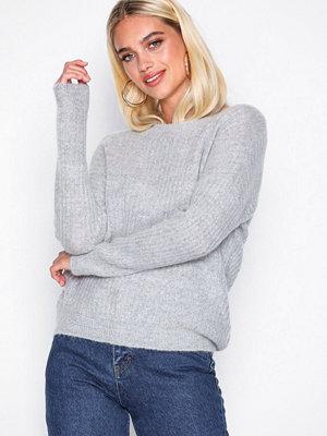 MOSS Copenhagen Femme Rib Mohair Pullover Light Grey Melange