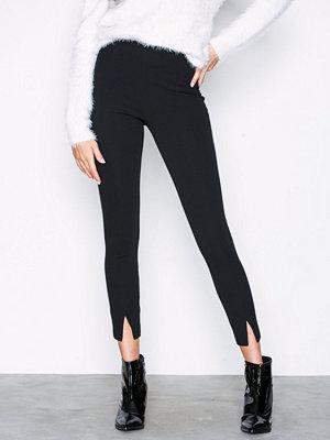 Missguided svarta byxor Skinny Fit Cigarette Trousers Black