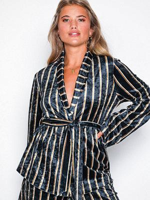 NLY Trend Velvet Robe Blazer Randig