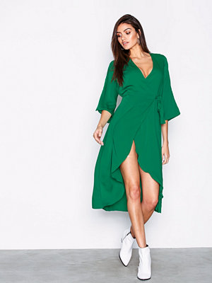 Vero Moda Vmscarlet 3/4 Wrap Calf Dress Vip Mörk Grön