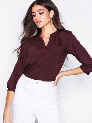 Vero Moda Vmerika Checker 3/4 Shirt Noos Mörk Lila