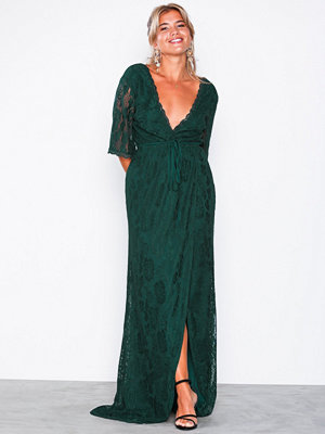 NLY Eve Forever Lace Wrap Gown Mörk Grön