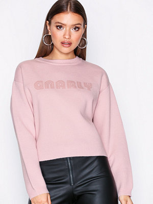 Pieces Pcfie Ls Cropped Knit Rosa