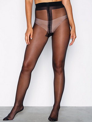 Strumpbyxor - NLY Lingerie Back Black Striped Tights