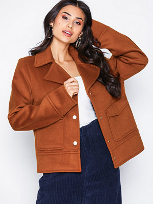NLY Trend Notched Collar Jacket Brun