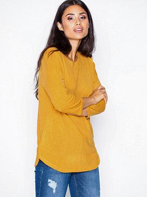 Jacqueline de Yong Jdyhush 3/4 Noos Pullover Hnn Mörkorange