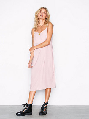 New Look V-Neck Midi Slip Dress Pale Pink