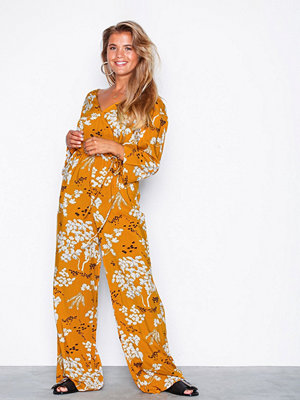 NLY Trend Boho Wrap Jumpsuit Gul/Mönstrad