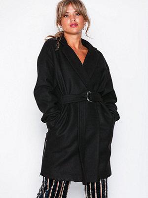 NLY Trend Side Zip Coat Svart