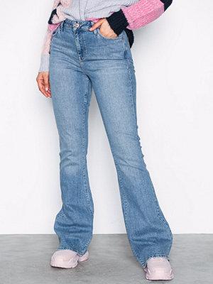 River Island Marine Flare Jeans Mid Blue