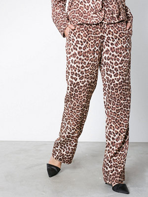Samsøe & Samsøe mönstrade byxor Hoys straight pants aop 9710 Leopard