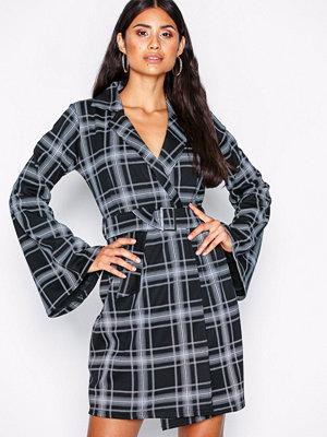 NLY Trend Blazer Kimono Check Dress Rutig