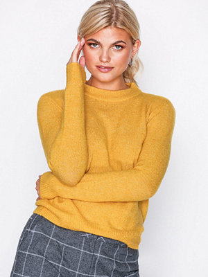 Pieces Pcjane Ls Wool Knit Noos Ljus Brun