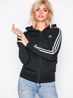 Adidas Originals 3 Stripes Zip Hoodie Svart