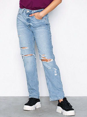 River Island Mom High Waisted Jeans Mid Blue
