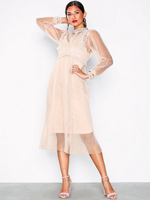 U Collection Strappy Lace Dress Dusty Pink