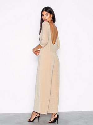 Jumpsuits & playsuits - NLY Trend Low Back Culotte Jumpsuit Champagne