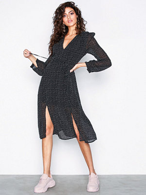 Glamorous Polka Dot Split Leg Flounce Dress