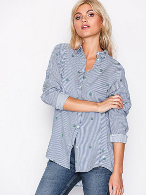 Lee Jeans Longline Shirt Beyond Blu Blue