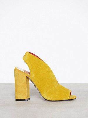 River Island High Vamp Suede Shoeboot Yellow