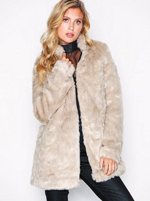 Only onlVIVA Fur Coat Cc Otw Ljus Grå