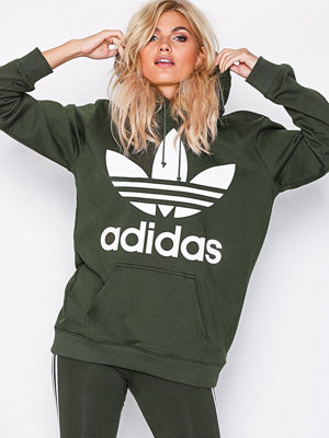 Street & luvtröjor - Adidas Originals BF TRF Hoodie Mörk Grön