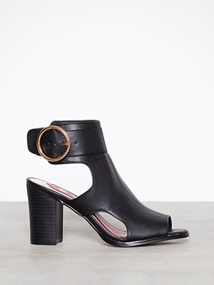 River Island Circle Buckle Shoeboot Black