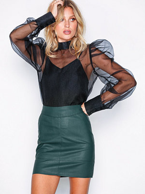 Only onlBASE Faux Leather Skirt Otw Noos Grå