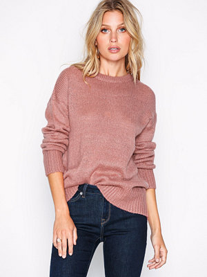 New Look Curved Hem Jumper Pink