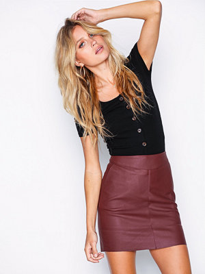 Only onlBASE Faux Leather Skirt Otw Noos Mörk Lila