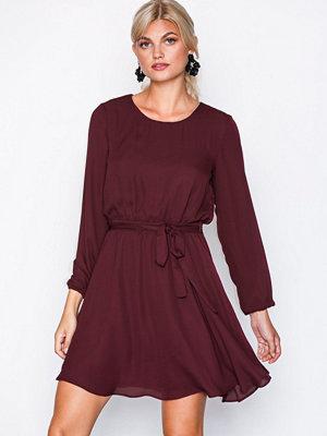 Vila Vilucy L/S Dress-Noos Mörk Lila