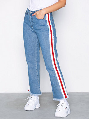 Glamorous Side Stripe Jeans Stonewash Blue
