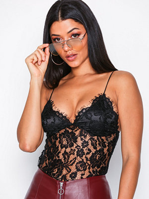 Missguided Corded Lace Bralet Black