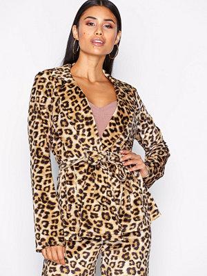 NLY Trend Velvet Leo Jacket Leopard