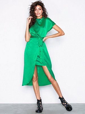 River Island SS Waisted Dress Green