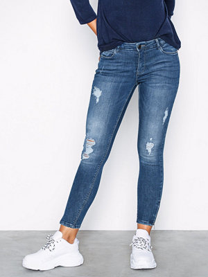 Noisy May Nmkimmy Nw Ankle Zip Jeans AZ003MB Blå