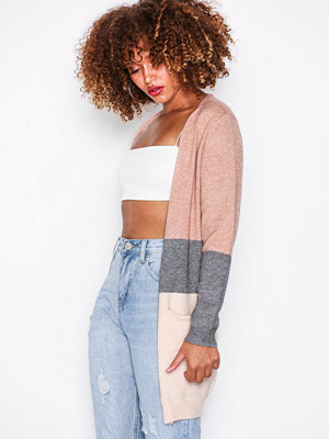 Only onlQUEEN L/S Long Cardigan Knt Noos Ljus Rosa