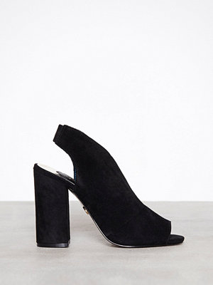 Pumps & klackskor - River Island High Vamp Suede Shoeboot Black