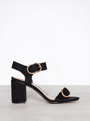 Pumps & klackskor - Topshop Samba Two Part Sandals Black