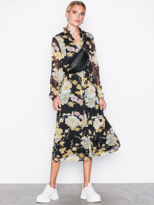 Vero Moda Vmtone Calf Dress W Flowers Exp Svart