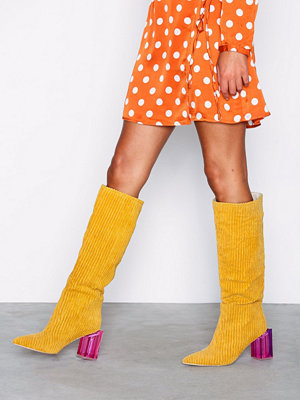 NLY Shoes Corduroy Glass Heel Boot