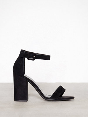 Pumps & klackskor - New Look Suede Strap Block Heel Sandals Black