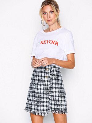 River Island Mini Boucle Skirt Black/White
