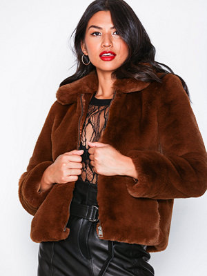 Selected Femme Slfaya Faux Fur Jacket B