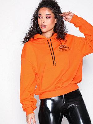 Street & luvtröjor - Cheap Monday Form Hood Sender Orange