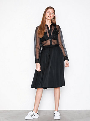 Filippa K Pleated Midi Skirt Black